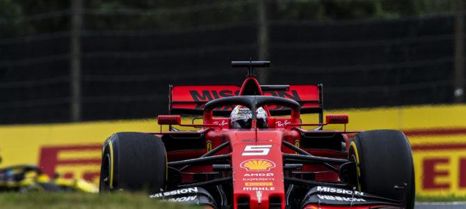 ベッテル ポール、フェラーリ フロントロウ独占 日本GP予選